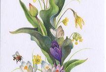 квіти лентами