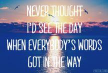 Lyrics  / by Melissa Stover