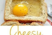 Cheesey egg baked toast