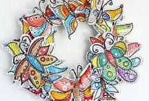 Carta - Paper Art / L'uso creativo di carta in tante forme e colori