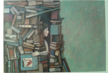 painting - books