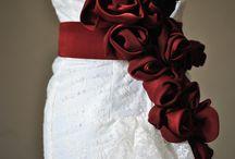 Qualcosa di Rosso wedding/red wedding dress