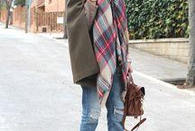 bufanda manta y tejanos