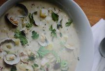 New England clam chowder