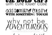 Fonts & writing