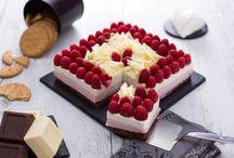 Cheese cake cioccolato bianco e lamponi