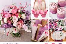 Wedding color/ pink & purple