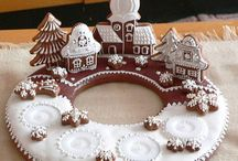 Gingerbread and Salt Dough Ornaments - Fina dekorationer av pepparkaka och saltdeg