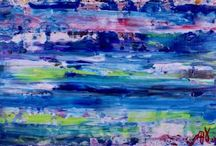 Nature Inspired Abstract Acrylic Paintings