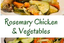 Main Dish Recipes / Rosemary Chicken and Vegetables: A #Paleo #Healthy and #CleanEating recipe!