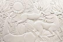 Plaster Bas Relief Inspiration for St. Nickolas / Plaster Bas Relief
