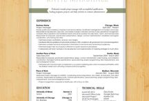 Resume Design / by Susan Tobin