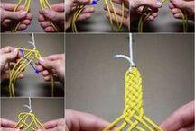 Pletení, drhání, háčkování