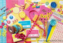 Bunny Hop Inspiration / Bunny Hop stash kit for March 2015 from www.ScrapStashKitClub.com Use what you have in your stash and make a kit!