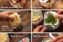 Instant noodle meals in Kilner jars