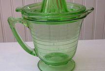 Antique Green Depression Glass