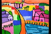 Lessen beeldend Landschappen / Doe hier ideeën op om thuis of op school aan de slag te gaan! Mevrouw Merel inspireert graag kinderen, ouders en leerkrachten.