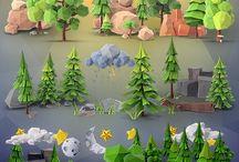 3д лес