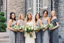 Bridesmaids / There is nothing that says all your Bridesmaids HAVE to wear the same style of dress in matching colours.   Have fun with them. Be brave