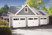 Clopay Garage Door / Featuring Clopay's popular Ultra-Grain® paint finish, Cypress Collection insulated garage doors make an attractive, practical and energy efficient option for any home's garage. With many decorative window and hardware styles, Cypress Collection garage doors will dramatically improve the curb appeal of your home without breaking your budget. This design complements Traditional, Contemporary or Rustic style homes. For exterior and interior applications. www.garagedoor4less.com