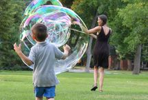 beeboo® Big Bubble Pro Wand / beeboo® Big Bubble Pro Wand in action / by Extreme Bubbles, Inc.