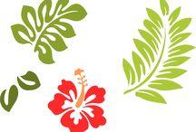 hawaiian stencils