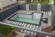 Montage einer UPM ProFi Deck 150 Poolterrasse in Steingrau / Montage einer UPM ProFi Design Deck Poolterrasse Schritt für Schritt.