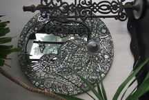 CRYSTAL MOSAICS by GLORIA WELCH / Love of crystal-Glass -and design
