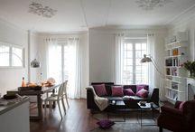 75m² - Paris 17ème / En créant un espace douche dans la chambre principale, deux lits superposés intégrés dans la chambre des enfants et en déplaçant la cuisine dans le salon, la rénovation partielle de cet appartement a permis de créer une troisième chambre pour le petit dernier…