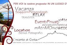 L'Incanto / Civita di Bagnoregio da una prospettiva incantata. Vacanze, servizi fotografici, eventi privati, wedding e molto altro.