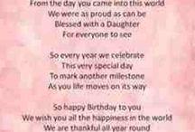 Verses for special birthdays
