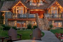 Log Cabins.......#ranches#houses#villas#..a dream. / Logs, wood and more wood in form of cabins#ranches,etc;