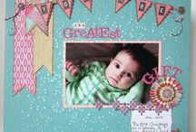 baby page layouts / by Holly Fickling