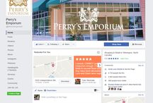 Perry's Emporium Social Media / Here are all of our social media accounts