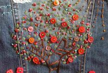 Embroidery denim