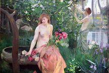 Emile-Rene Menard / Émile-René Ménard (Parigi, 1862 – Parigi, 1930) pittore francese. Appartenne alla scuola simbolista.