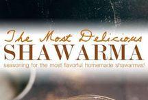 Seasoning shawarma