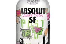 Absolut Vodka City Bottles / Absolut Vodka specialist city bottles