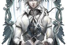 silver hair male