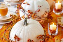 Fall Decorating / Ideas for decorating inside and out using our natural fall products such as specialty pumpkins, straw, corn stalks, and more!
