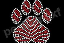 paw Mascot Transfers / paw Mascot rhinestone iron on transfer custom designs for Ts
