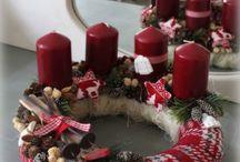 Vánoční věnečky z pleteniny