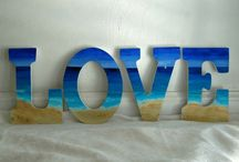 painted letters and signs