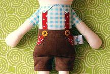 tecido ou feltro boneco