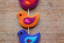 Птицы из войлока