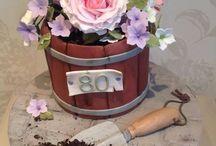 torta - kvety
