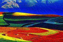 Câmpurile colorate ale Chinei  ( Ținuturile Dongchuan District, Provincia Yunnan)