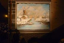 Christmas window paintings / Pics of decorational window paintings made by Jef Geens in Belgium.