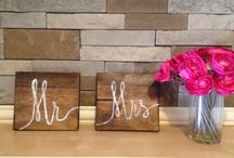 Reclaimed wood home decor / by Blake Marie