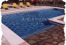 Remates de piscinas privadas / Fotografías de nuestros remates de piscina fabricados en marmolina.